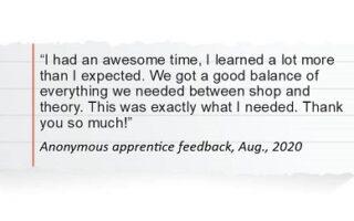 Apprentice Testimonials